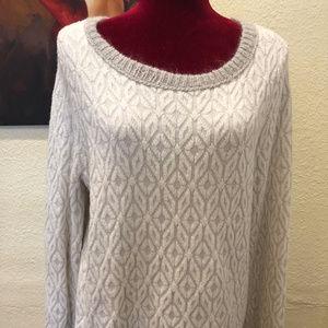 NWT LOFT Geometric Snowflake Mohair Wool Sweater